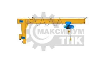 Консольный настенный электрический передвижной кран 0,25т