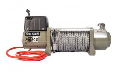 Лебёдка автомобильная TOR SEC13000 (5879 кг/28 м) 12V