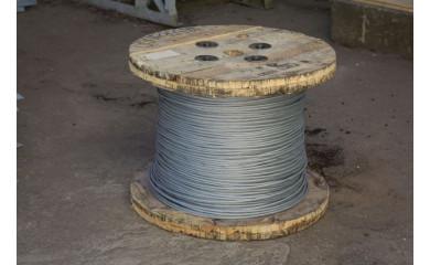 Канат стальной одинарной свивки типа ТК конструкции 1х19 (1+6+12)