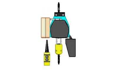 Таль ВЕ 031М г/п 125кг в/п 3,2 - 12 м на крюке цепная электрическая стационарная