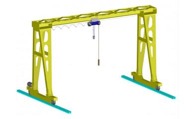 Козловой однобалочный кран 5,0 тонн / 6 - 20 метров подъем, пролет от 12м до 40м