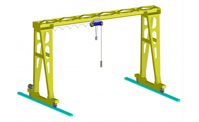 Козловой однобалочный кран 16,0 тонн / 6 - 20 метров подъем, пролет от 12м до 40м